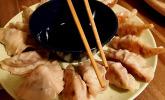 Chinesische Teigtaschen Jiaozi, Dumplings, Pot Sticker-Version