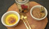 Nachspeise: Mousse au Chocolat und Crème brûlée