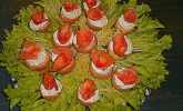 Gefüllte Champignons mit Hüttenkäse und Schinken