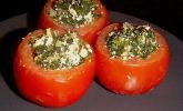 Gefüllte Tomaten mit Feta und Spinat