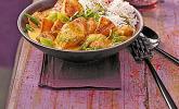 Hähnchen-Ananas-Curry mit Reis