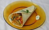Wraps mit Hähnchenbrust-Gemüse Füllung