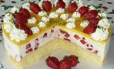 Erdbeer - Vanille - Kuchen mit Eierlikörbelag