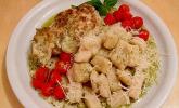 Hähnchenbrustfilet mit Pesto und Gnocchi