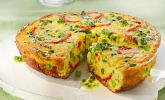 Frittata mit Mangold und gerösteter Paprika