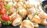 Bayern-Burger als Fingerfood