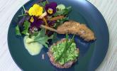 Vorspeise: Variation vom Lachs an Salat