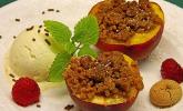 Gegrillter Pfirsich mit Amarettini
