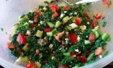 Griechischer Tomaten-Mangold-Salat