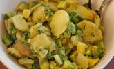Kartoffel-Avocados-Salat mit Kresse