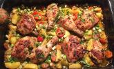 Knoblauch-Zitronen-Hähnchen mit Ofenkartoffeln