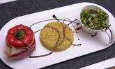 Hauptspeise: Et Sote – Gefüllte Paprika mit Hirsereis