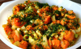 Süßkartoffelsalat mit Paprika und Ingwer