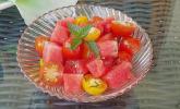 Tomaten-Wassermelonen-Salat