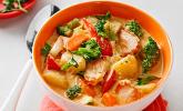 Kartoffel-Brokkoli-Curry mit Kokosmilch