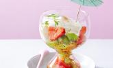 Mojito-Joghurt auf Obstsalat