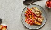 Tomaten-Paprikagemüse mit Halloumi