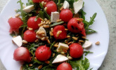 Sommersalat mit Wassermelone und Rucola