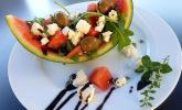 Melonen-Schafskäse-Schiffchen