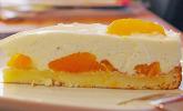 Quark-Joghurt-Sahne-Torte mit Mandarinen