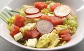 Schafskäse-Melonen-Salat mit Radieschen