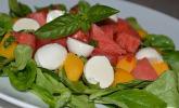 Sommersalat mit Melone und Nektarinen