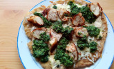 Spinat-Hähnchen-Pizza