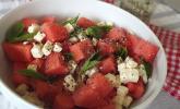 Wassermelonen-Salat mit Schafskäse und Minze