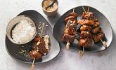 Indonesische Geflügel-Satay-Spieße