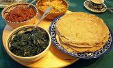 Äthiopien: Rindfleisch mit Injera und Grünkohl