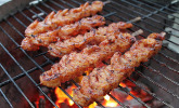 BBQ-Garnelen in Honig-Senf-Sauce