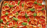 Blätterteig-Tomaten-Quadrate