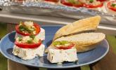 Griechisch angehauchte Fetapfanne vom Grill