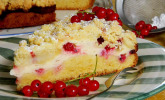 Ribisel-Topfen-Kuchen mit Streusel