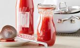 Grundlage für Tomatensuppe, haltbar gemacht