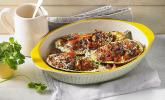 Auberginen/Melanzane gefüllt und gebacken