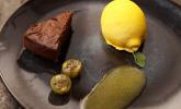 Nachspeise: Saftiger Schokoladen-Mandel-Kuchen