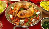 Ganzes gebratenes Harissa-Hähnchen