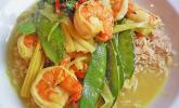 Garnelen-Curry mit Vanille und Zuckerschoten