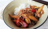 Gemüsepfanne Thai Style mit weißem Spargel