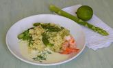 Kräuter - Couscous mit Spargel und Mascarpone - Limetten - Sauce