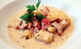 Kürbisgnocchi mit Pfifferling-Amarettini-Sauce
