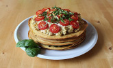 Pfannkuchen-Spinat-Torte