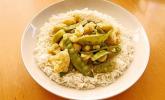Zuckererbsen-Blumenkohl-Curry
