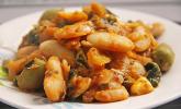Bohnen-Mangold-Feta-Pfanne
