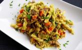 Curryrahm-Nudeln mit Hackfleisch