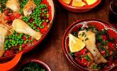 Einfache Paella mit Chorizo und Hähnchenkeulen