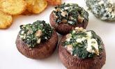 Feta-Spinat-Champignons
