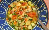 krümeltigers Sommer-Gemüsesuppe quer durch den Garten