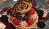 Nachspeise: Tartelette au Cassis